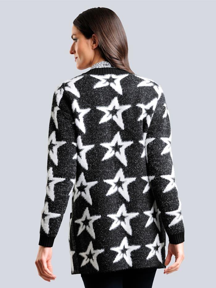Strickjacke im exklusiven Dessin von Alba Moda