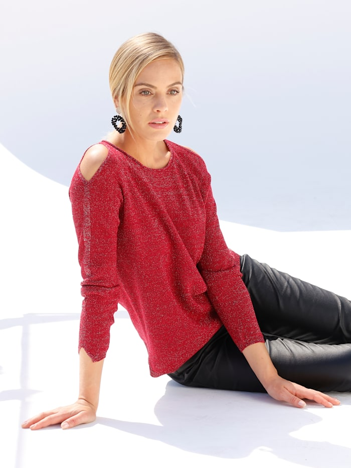 AMY VERMONT Trui met cut-outs, Rood