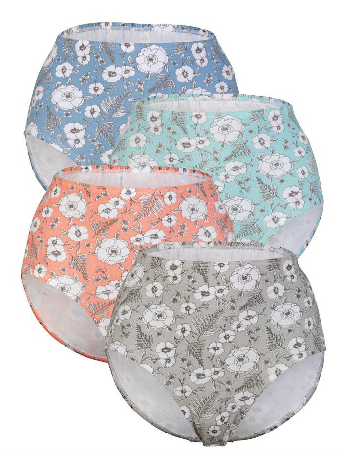 Kukkakuviolliset alushousut 4/pakkaus