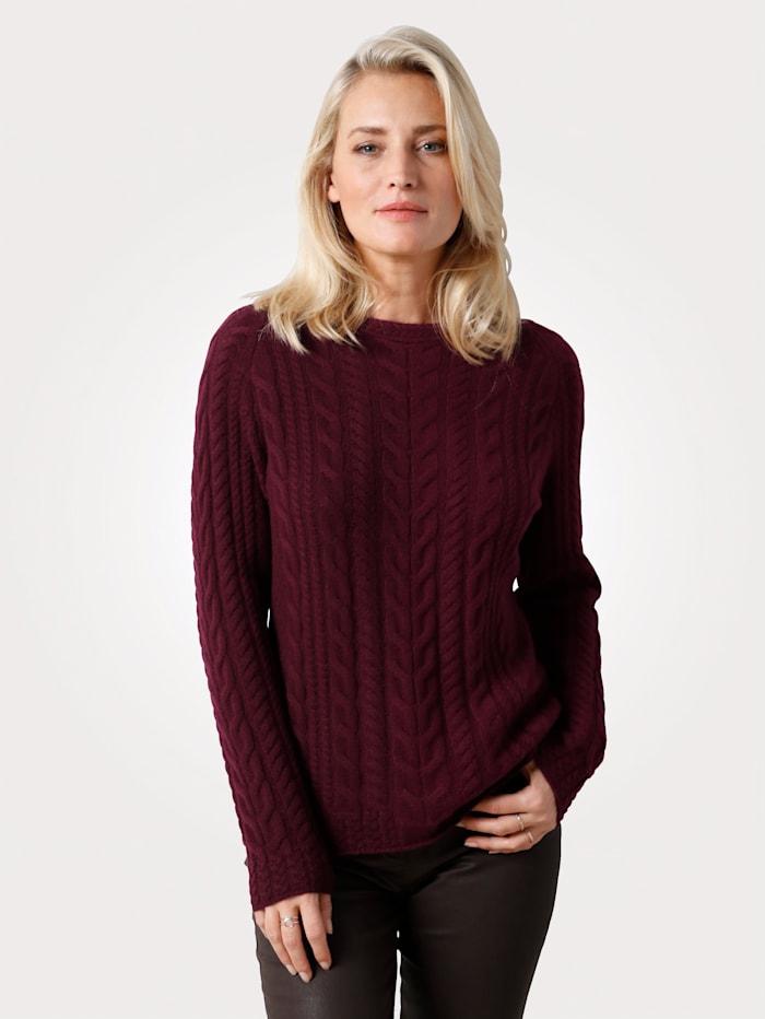 MONA Pullover aus reinem Kaschmir, Bordeaux