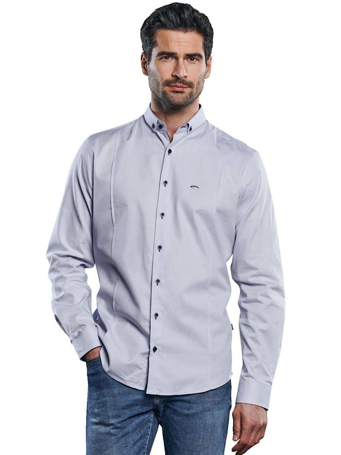 Engbers Hemd mit edlen Teilungsnähten, Hellgrau