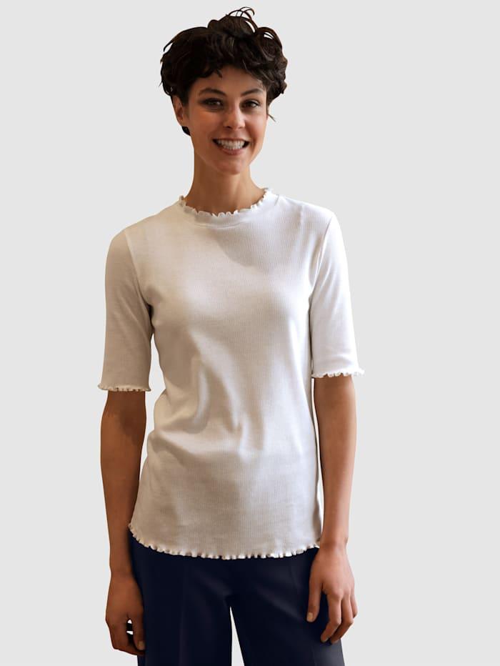 Dress In Tričko s vlnitým zakončením, Přírodní bílá