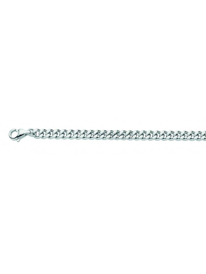 1001 Diamonds Damen Edelstahlschmuck Edelstahl Flach Panzer Halskette 60 cm Ø 4,9 mm, silber