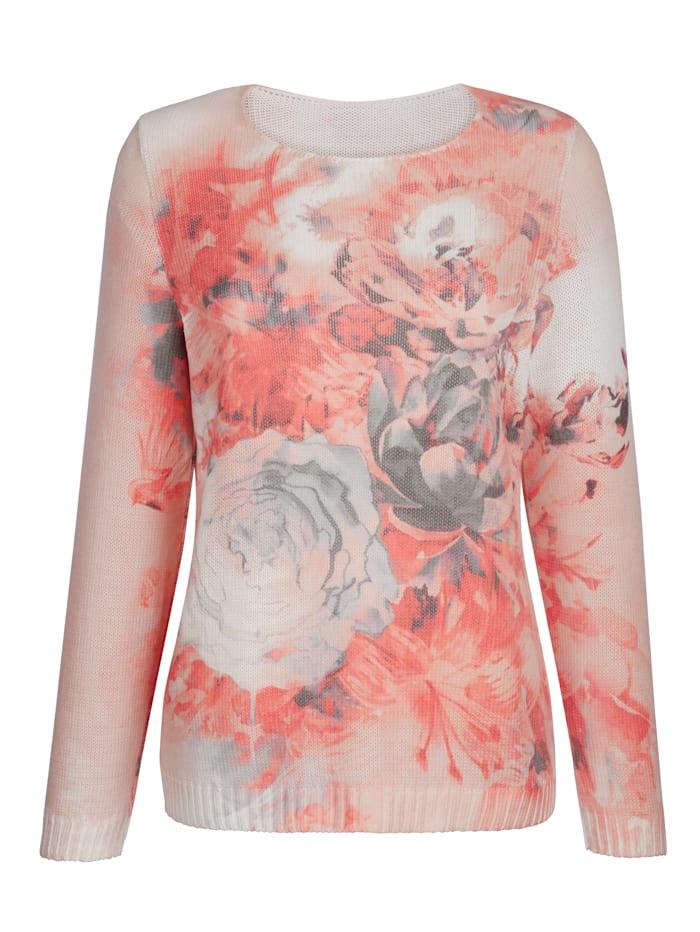 Pullover mit floralem Dessin