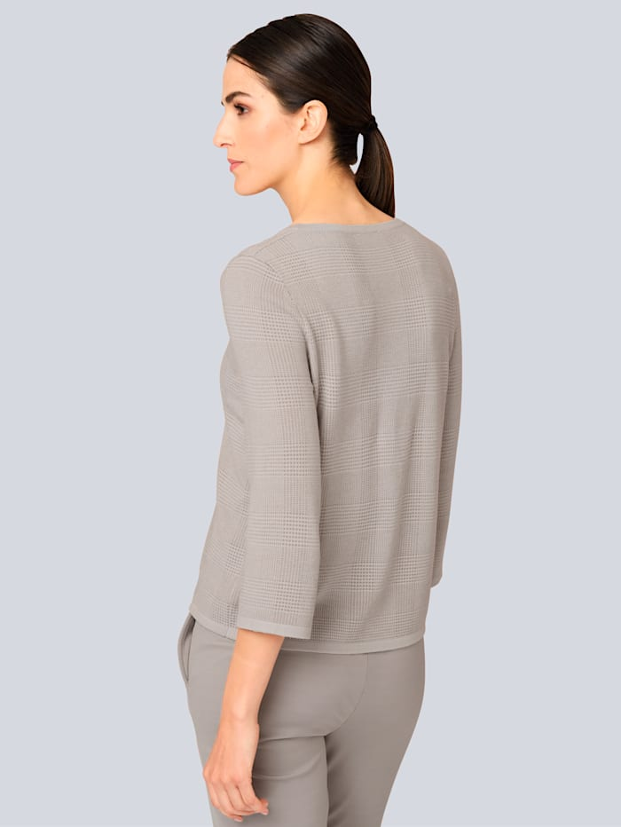 Pullover mit dezentem Grafik Dessin