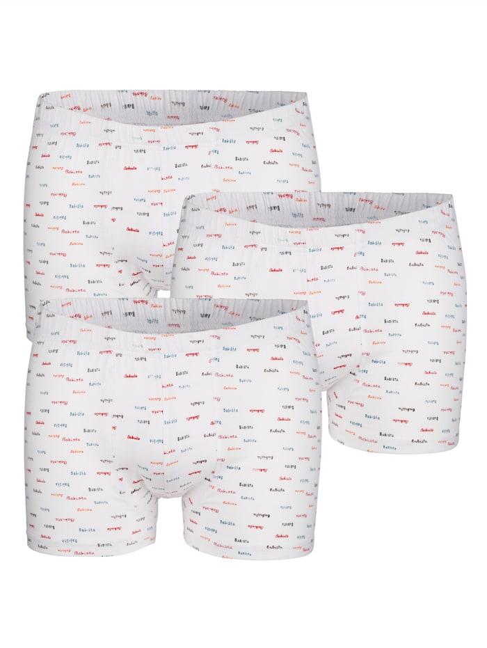 BABISTA Boxershorts met print rondom, Wit