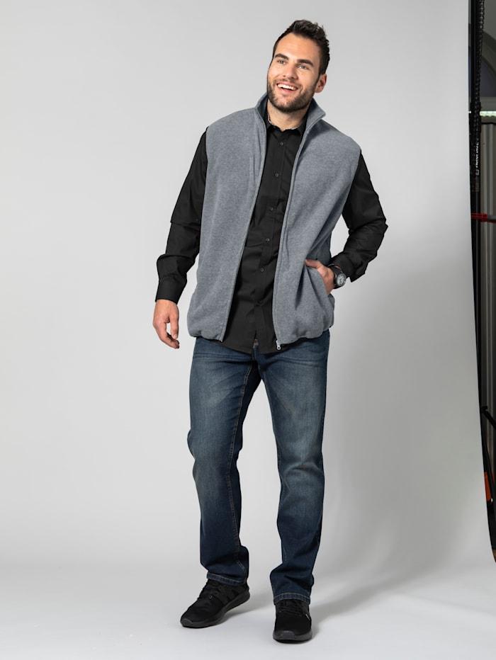 Men Plus Fleeceweste mit Taschen, Grau