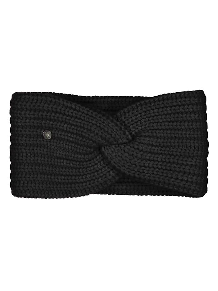 Codello Softes Stirnband mit Wolle, black