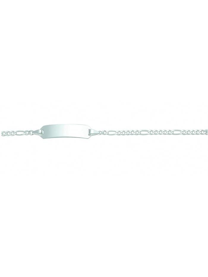 1001 Diamonds Damen Silberschmuck 925 Silber Figaro Armband 14 cm Ø 1,9 mm, silber
