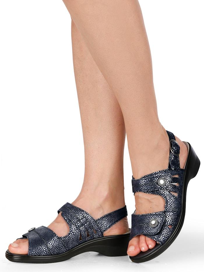 Sandale aus hochwertigem Veloursleder