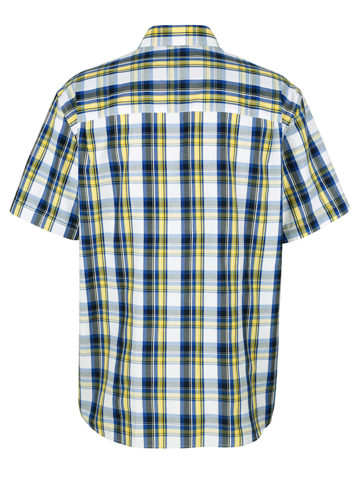 Skjorta med vävt rutmönster
