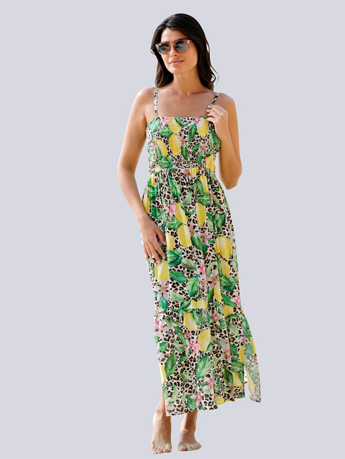 Alba Moda Strandkleid in Bandeauform, Gelb