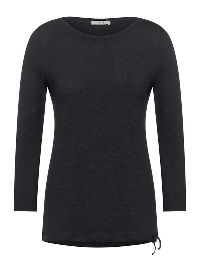 Cecil Strukturiertes Basic Shirt, carbon grey