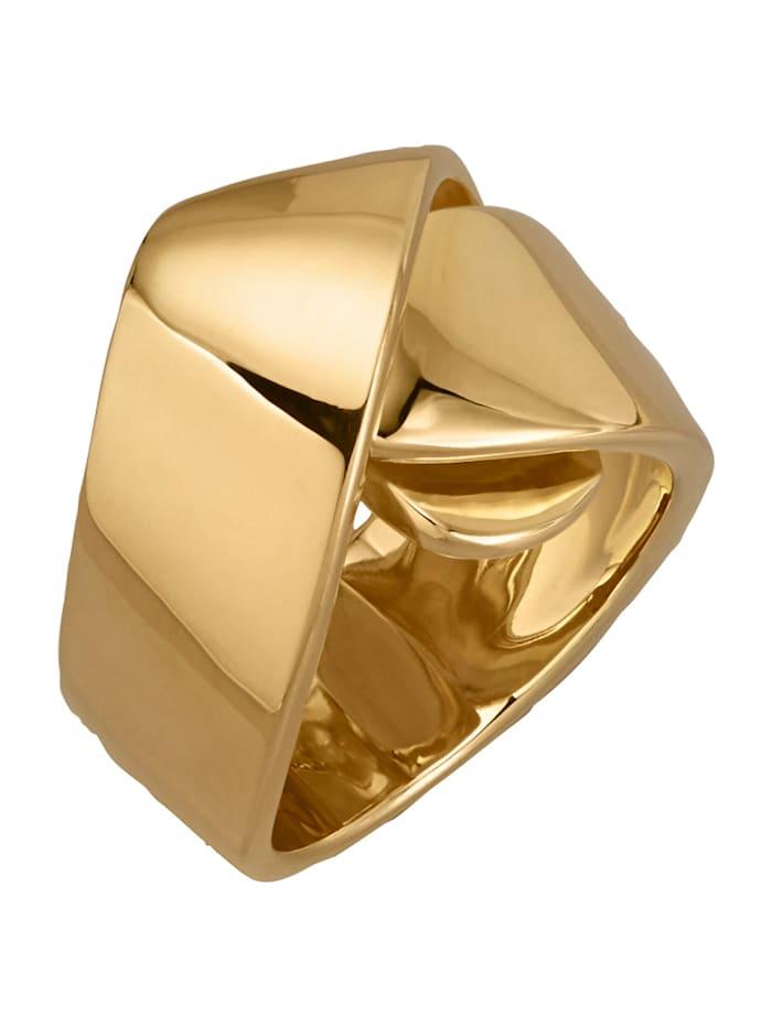 Bague En argent 925, doré, Coloris or jaune