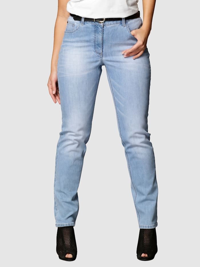 Angel of Style Jeans – Carla Slim fit, Ljusblå