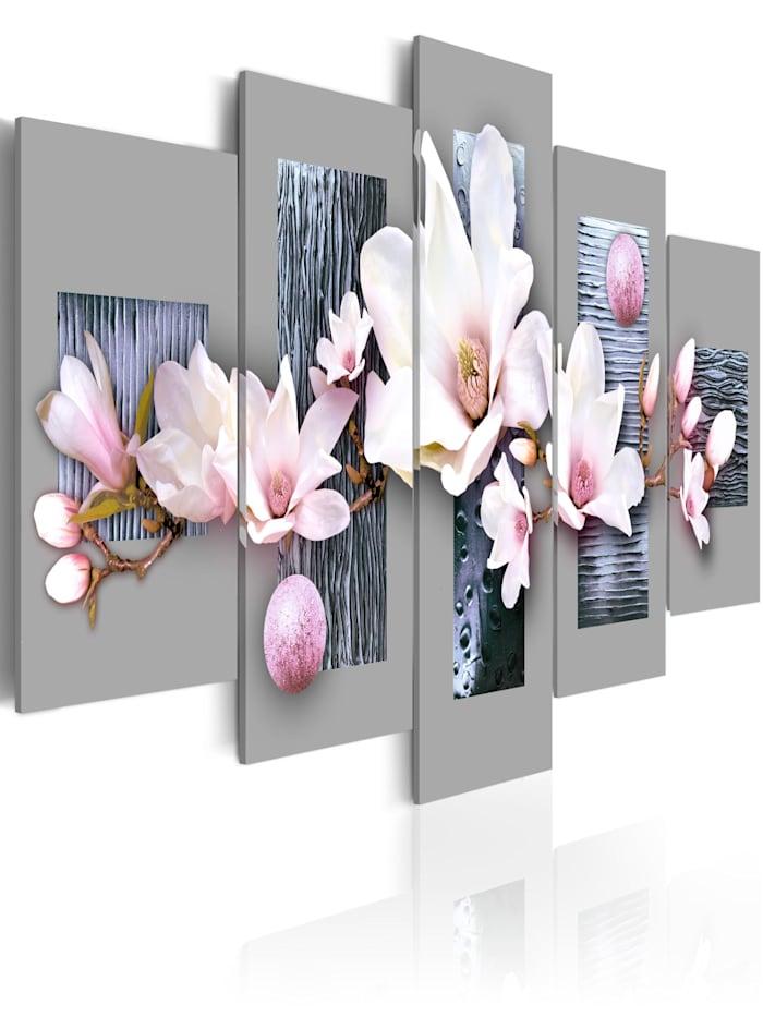 artgeist Wandbild Erster Frühlingstag, grey,pink,white,blue