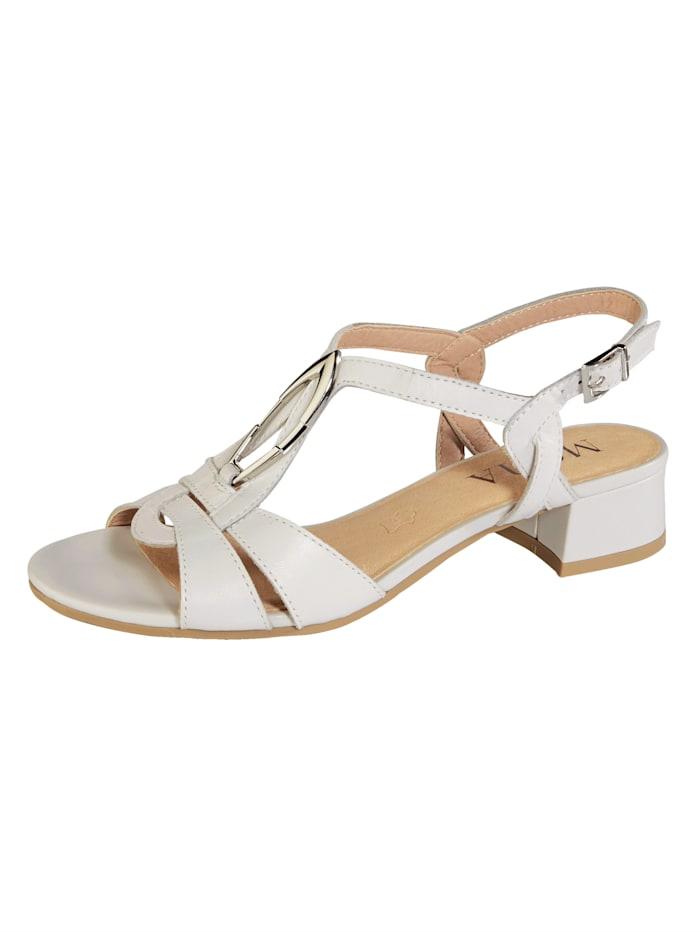 MONA Sandale, Creme-Weiß