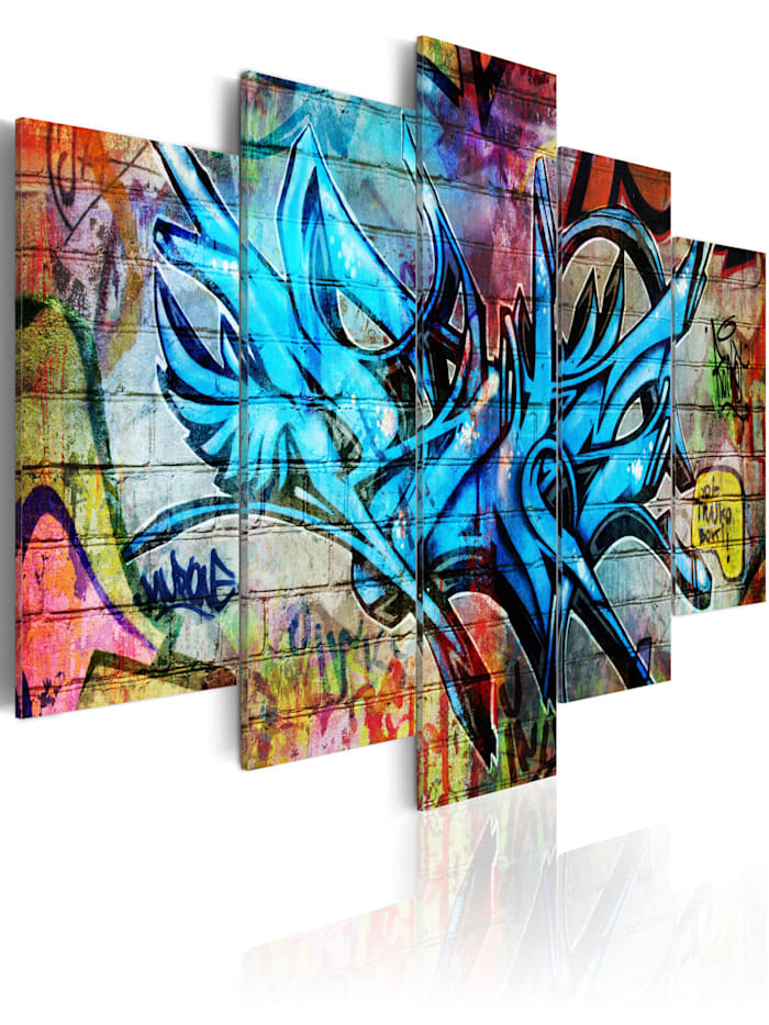 artgeist Wandbild Poesie einer Großstadt, mehrfarbig