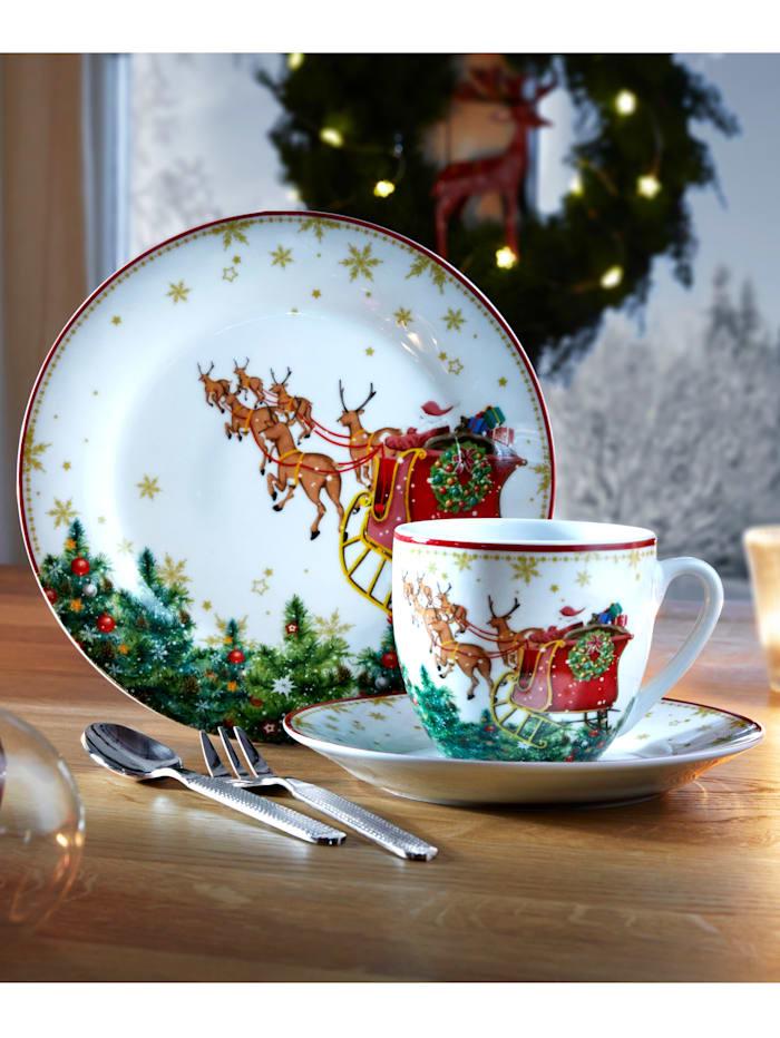 Van Well Kaffeservise i 18 deler -Santa Claus-, flerfarget