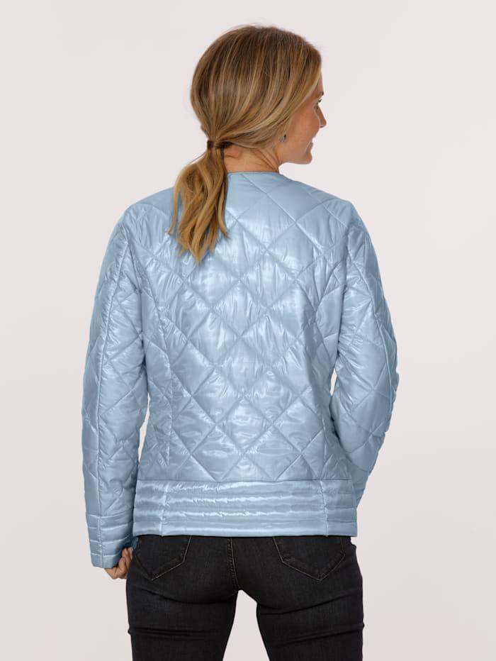 MONA Gewatteerde jas in blazerstijl, Lichtblauw