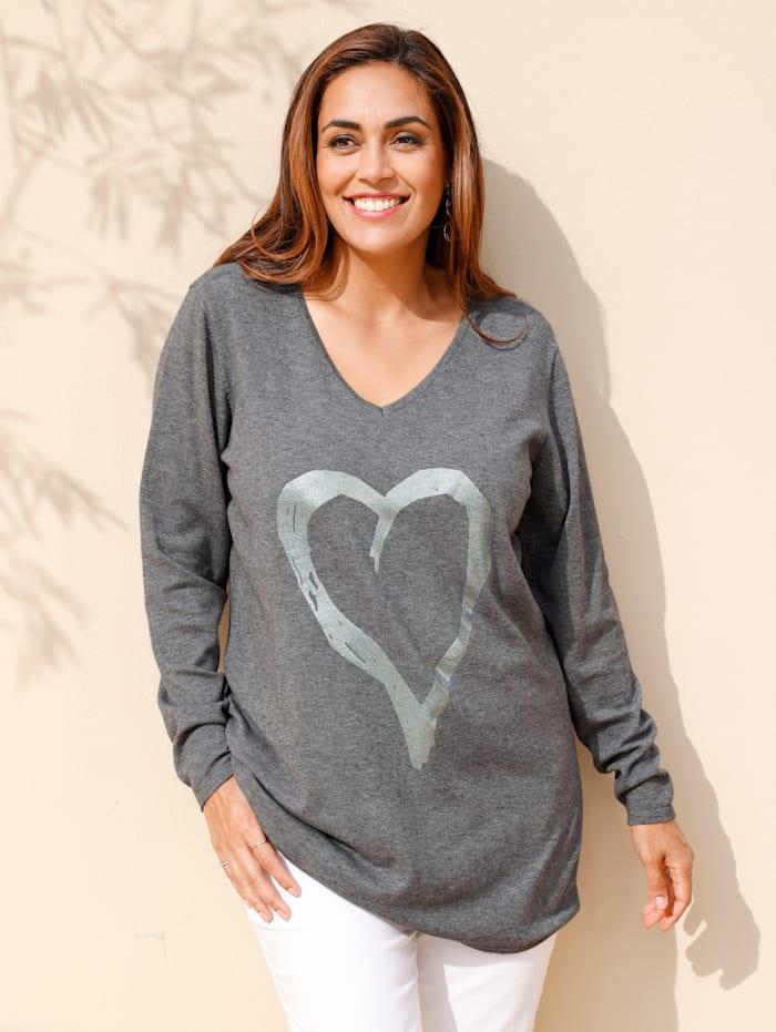 Pullover mit glänzendem Herz-Print