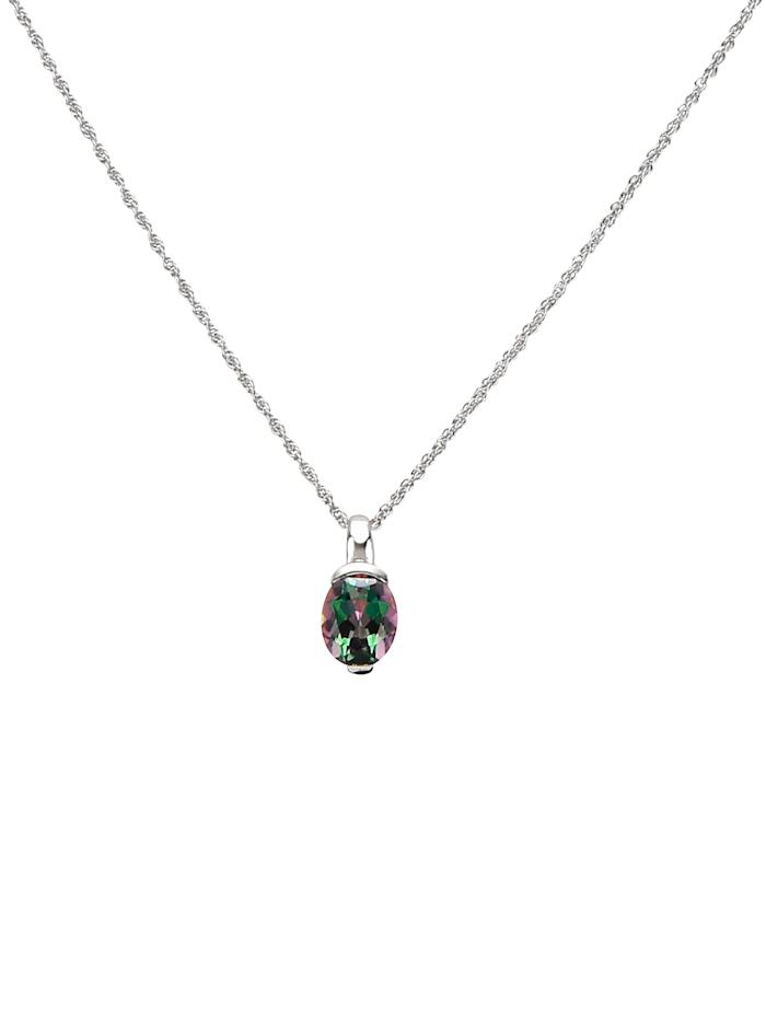Pendentif avec quartz mystique et chaîne