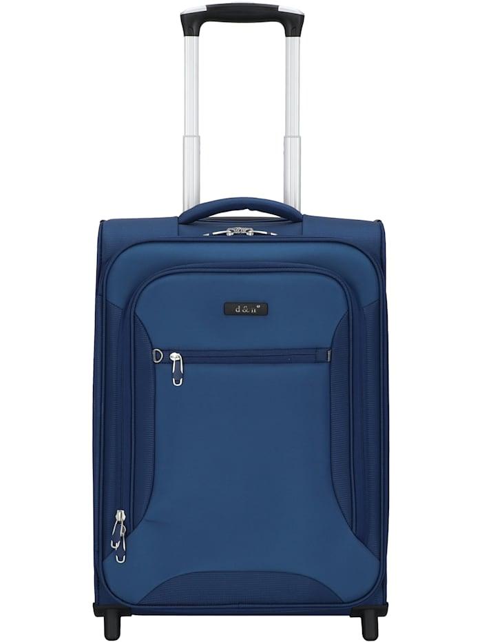 D&N Travel Line 6400 2-Rollen Kabinentrolley 49 cm, blau
