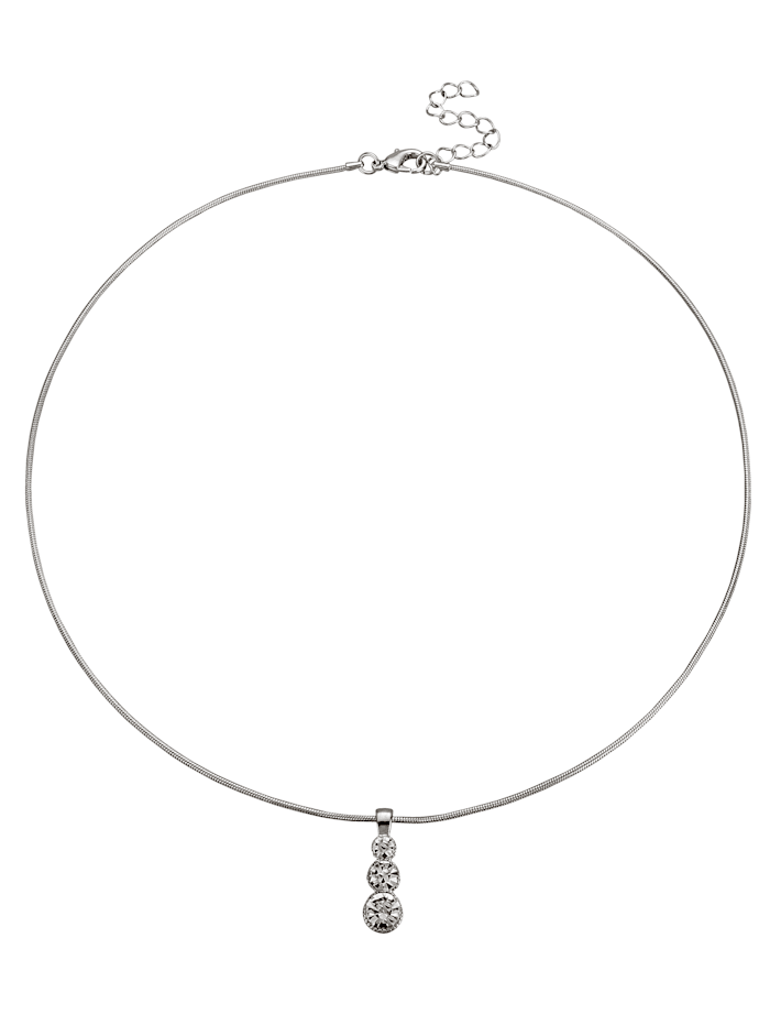 Necklace with glass details