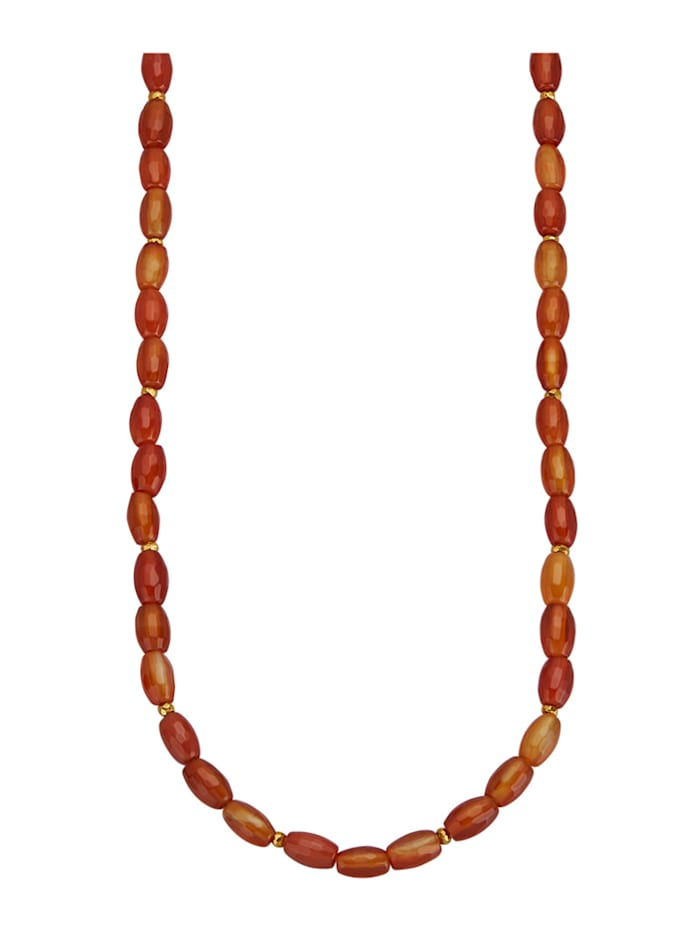 Collier avec carnéole, Orange