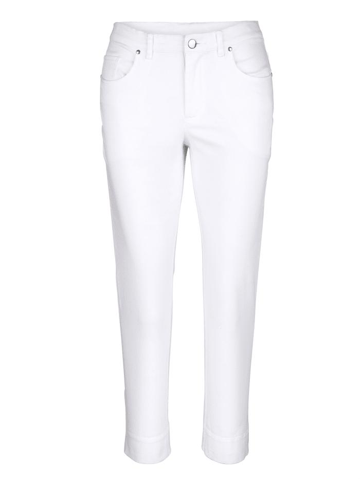 Alba Moda 7/8-broek met pijpzomen die omgeslagen kunnen worden, wit