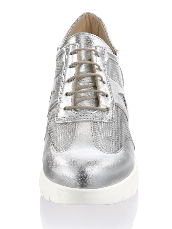 Sneaker in allover Metallic