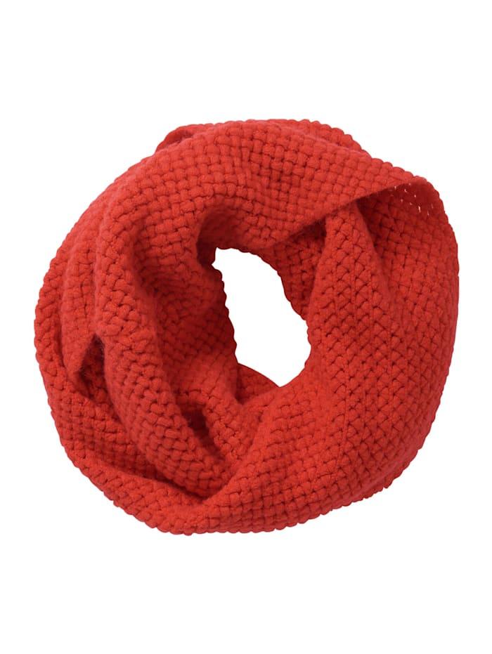 Cartoon Loop-Schal mit Struktur, Fiery Red