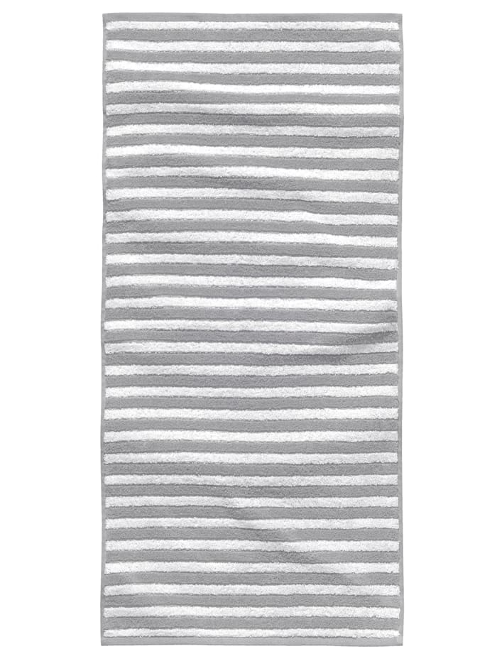 Tom Tailor Duschtuch - Jacquard Melange Towel, Silber