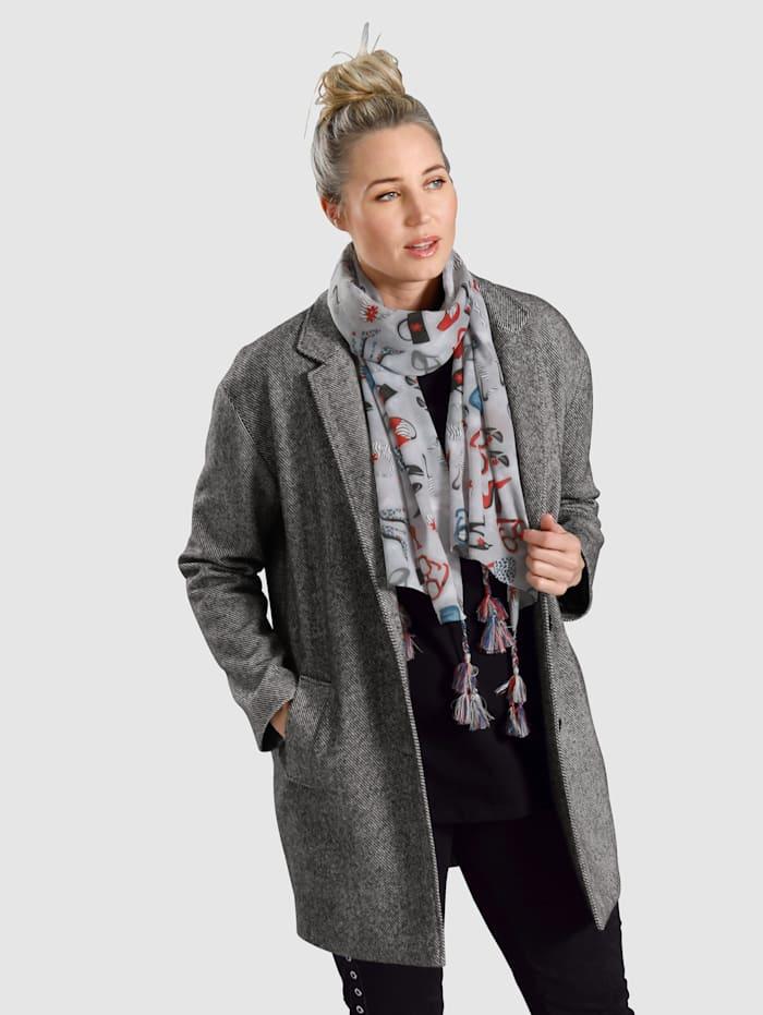 MIAMODA Manteau à motif rayé, Gris