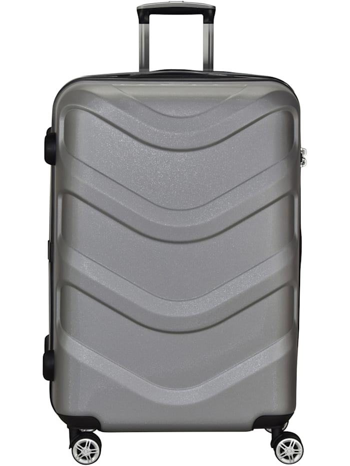 Stratic Arrow 4-Rollen Trolley 75 cm, silvercolored