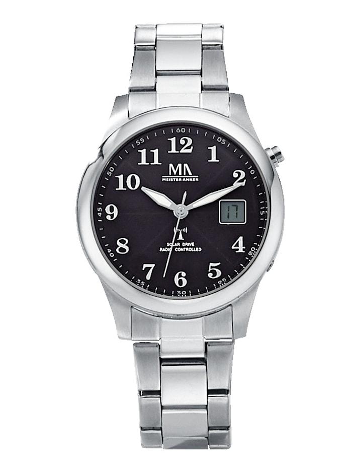 Meister Anker Pánské solární hodinky, Stříbrná