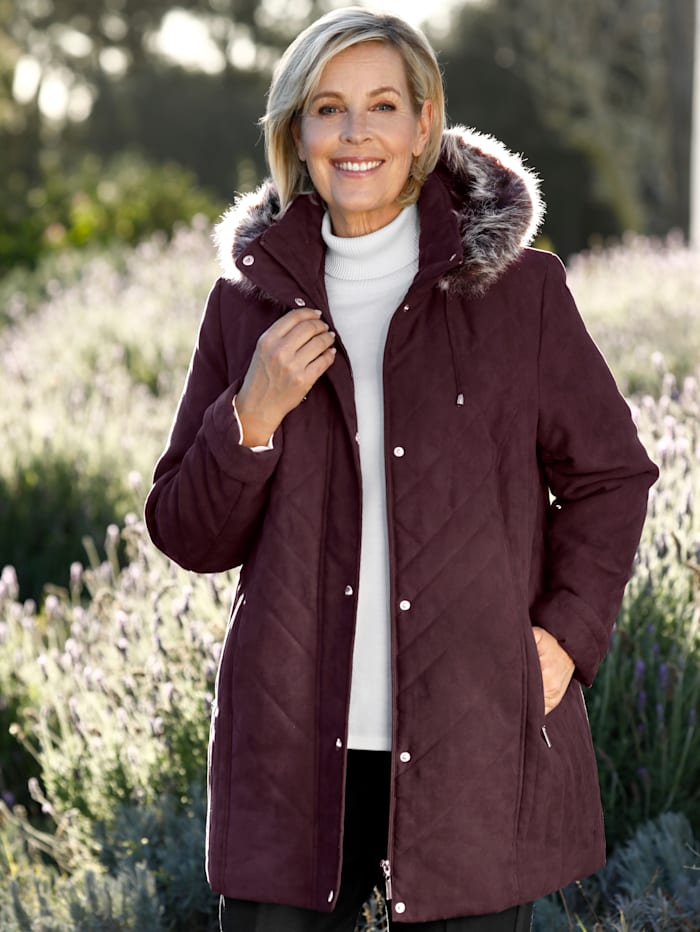 m. collection Jacke in Micromoos-Qualität, Pflaume
