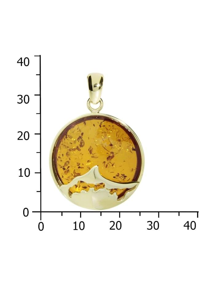 Anhänger - Fischland-Darß-Zingst 25 mm - Gold 333/000 - Bernstein