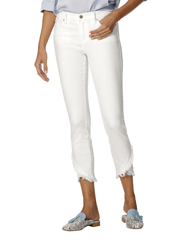 Jeans mit modischem Fransenverlauf