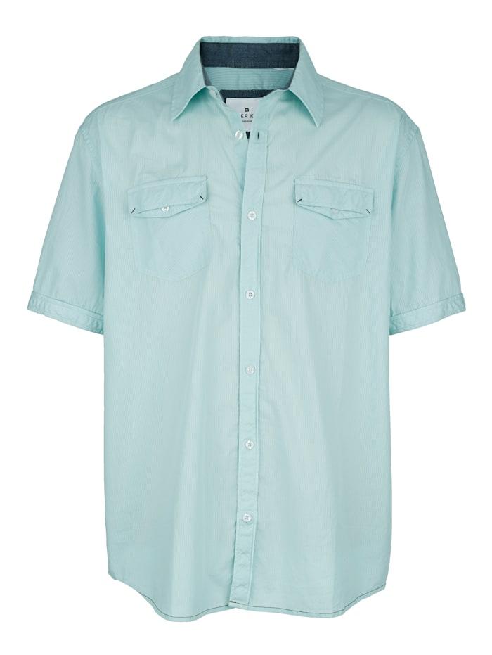 Roger Kent Overhemd met praktische borstzakken, Mint