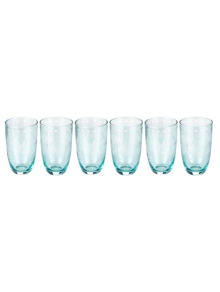 IMPRESSIONEN living Glas-Set, 6-tlg., türkis, Wasserglas-Set