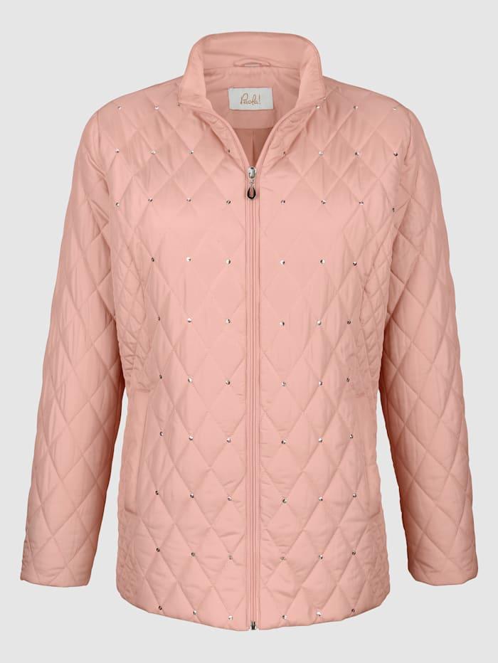 Gewatteerde jas met ruitpatroon
