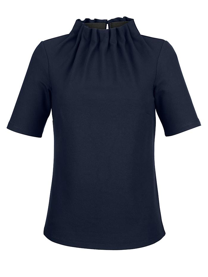 Alba Moda Shirt met fraaie kraagvariant, Marine