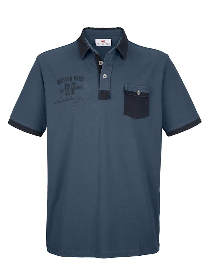 Poloshirt in contrastlook