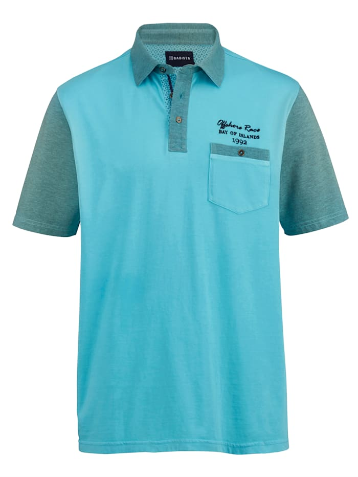 BABISTA Poloskjorte i myk jersey, Turkis
