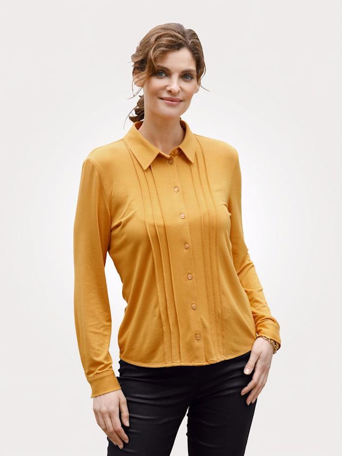MONA Bluse mit Biesen, Gelb