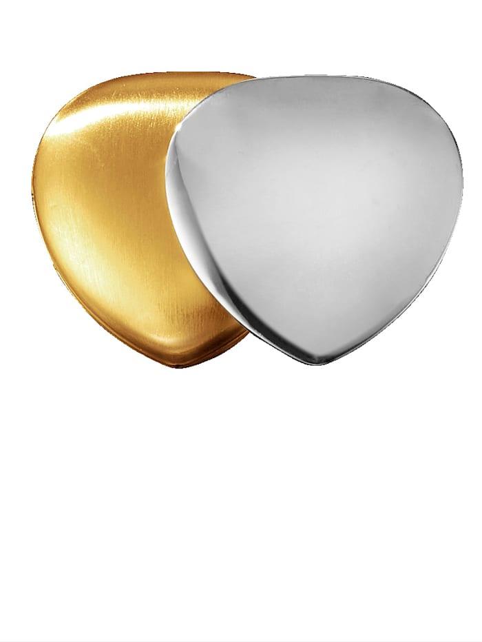 Herz-Magnet, Edelstahl
