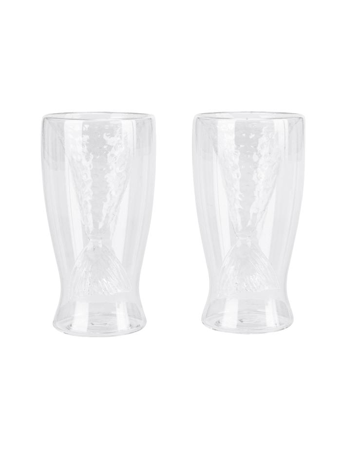 IMPRESSIONEN living Glas-Set, 2-tlg., Flosse, Transparent