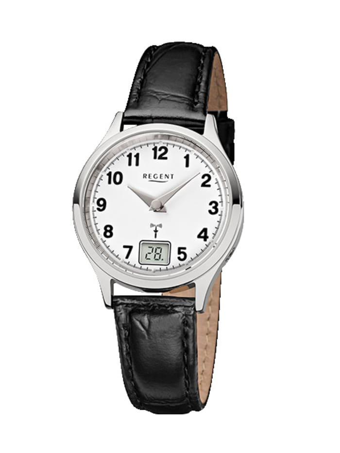 Regent Damen-Funk-Uhr 12030072, Schwarz