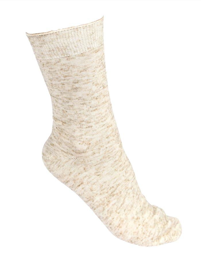 GHZ Socken mit Leinen, Beige